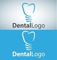 dental logo 6 vector image