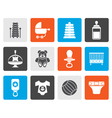Flat Child Baby and Baby Online Shop Icons vector image