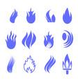 gas industry blue symbol set vector image