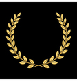 Gold laurel wreath 3 vector image