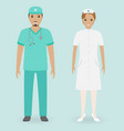 hospital staff concept male and female nurses vector image
