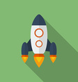 Icon of Rocket Flat style vector image