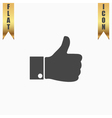 LIKE icon hand icon vector image