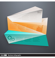 modern business infographics with polygons vector image