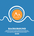 Mountain Icon sign Blue and white abstract vector image