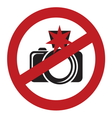 No flash sign vector image
