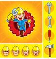 Repair man mascot vector image