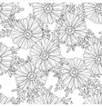 Seamless aster pattern vector image