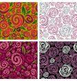 seamless beige grunge rose pattern vector image