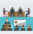 training seminar concept a group of people vector image