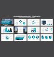 set of blue and turquoise elements for vector image