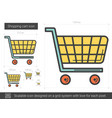 shopping cart line icon vector image