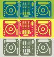 DJ equipment vector image