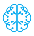 wave from the brain vector image