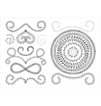 set of marker strokes vector image vector image
