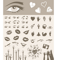 body parts design elements vector image