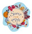 Sport it is my life set of objects vector image