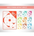 Audio format icons set im modern abstract vector image