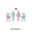 Be parents vector image