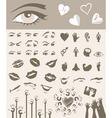 body parts design elements vector image