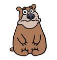 cute unhappy bear vector image