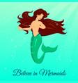 dancing mermaid princess vector image