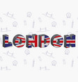 large letters london with the uk flag on the vector image