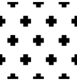 seamless pattern with cross geometric vector image