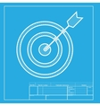 Target with dart White section of icon on vector image