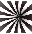 Black and white spiral tunnel Vector Image