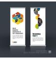 set of modern roll up banner stand design vector image