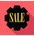 Sale banner icon flat style vector image