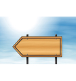 A wooden arrow signboard vector image