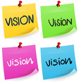 Vision Sticky Note vector image