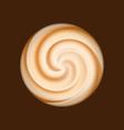 Coffee and milk cream texture vector image vector image