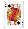 Queen of spades vector image