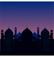 a blue religious background with vector image vector image