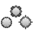 Set of decorative frames and borders vector image vector image