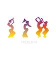 Balinese dancing girls vector image