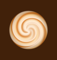 Coffee and milk cream texture vector image