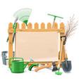 Garden Board vector image