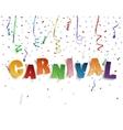 Handmade typeface carnival vector image
