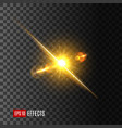 light flash or sun shine on transparent background vector image