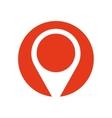 pin map pointer location symbol red circle vector image