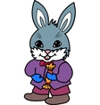 rabbit with candy vector image