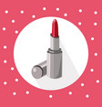 red lipstick icon on retro background summer vector image