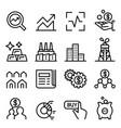 stock market stock exchange icon set in thin vector image