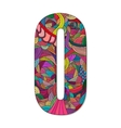 Number 0 with hand drawn abstract doodle pattern vector image