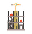 building construction vector image