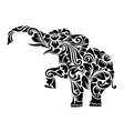 Elephant Floral Ornament Decoration vector image vector image